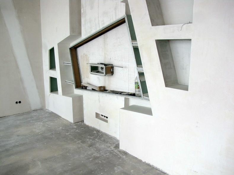 Шпаклевка конструкции под телевизор