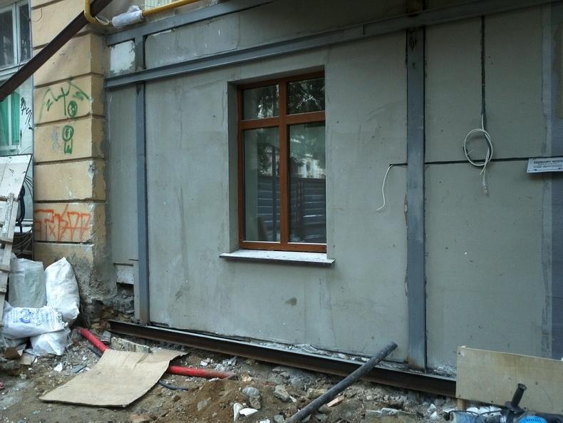 Усиление фасада здания