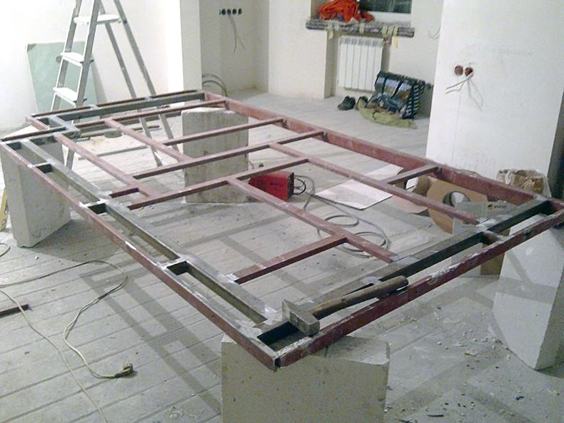 Сваривание каркаса для стеклянного потолка