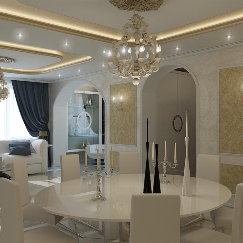 Разработка дизайн проекта дома в стиле современная классика