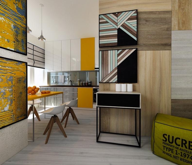 Дизайн однокомнатной квартиры в минимализме ЖК.