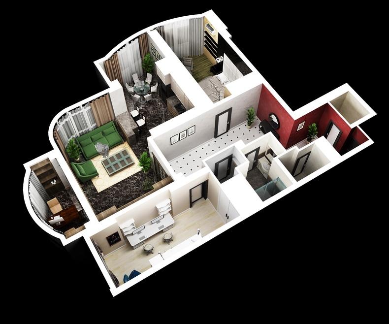 Дизайн макета квартиры для системы управления
