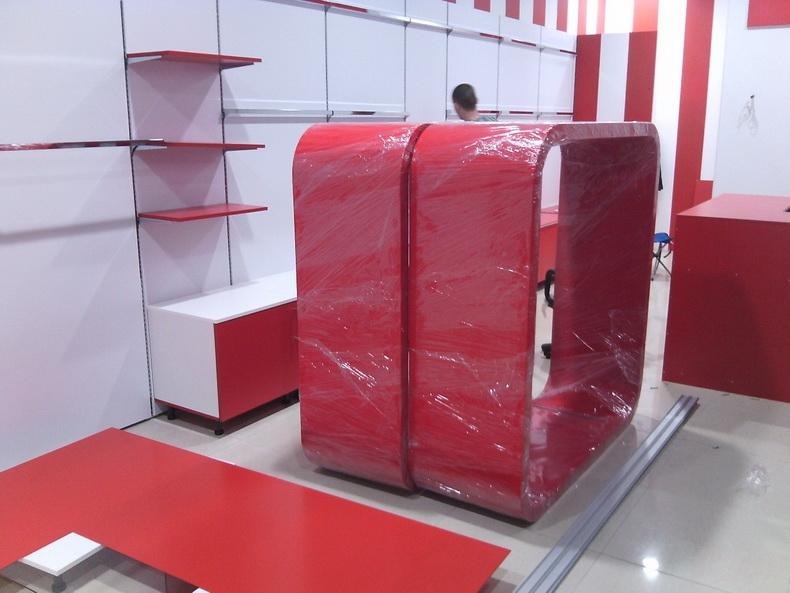 Сборка авторской мебели для магазина