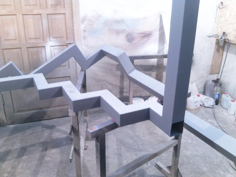 Технологический процесс изготовления и покраски лестницы