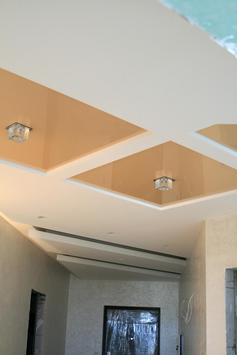 Монтаж натяжного потолка для одного из наших проектов