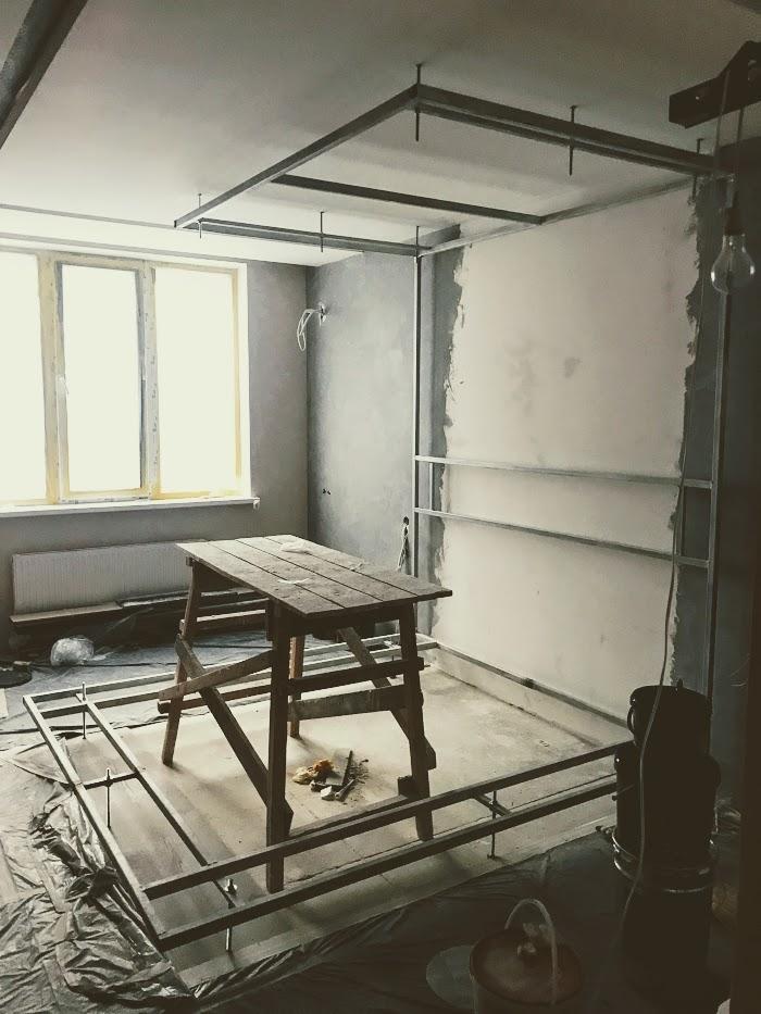 Монтаж несущей конструкции для кровати