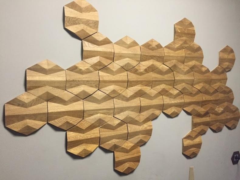 Производство декоративных панелей из массива дуба