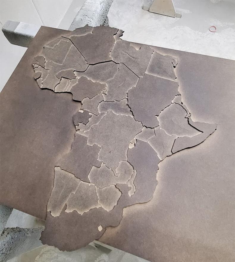 Покраска элементов для декоративной карты