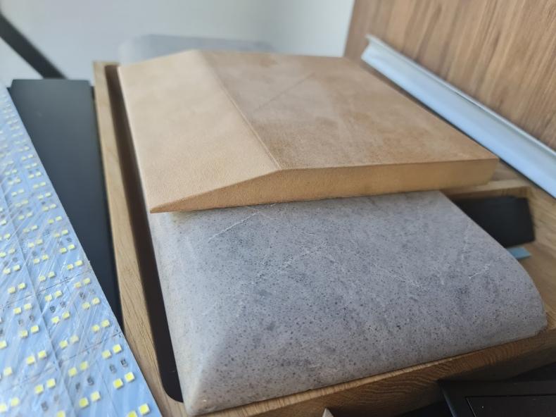 Фрезеровка образца фаски для кухонной столешницы