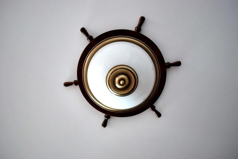 Монтаж светильника в морском стиле