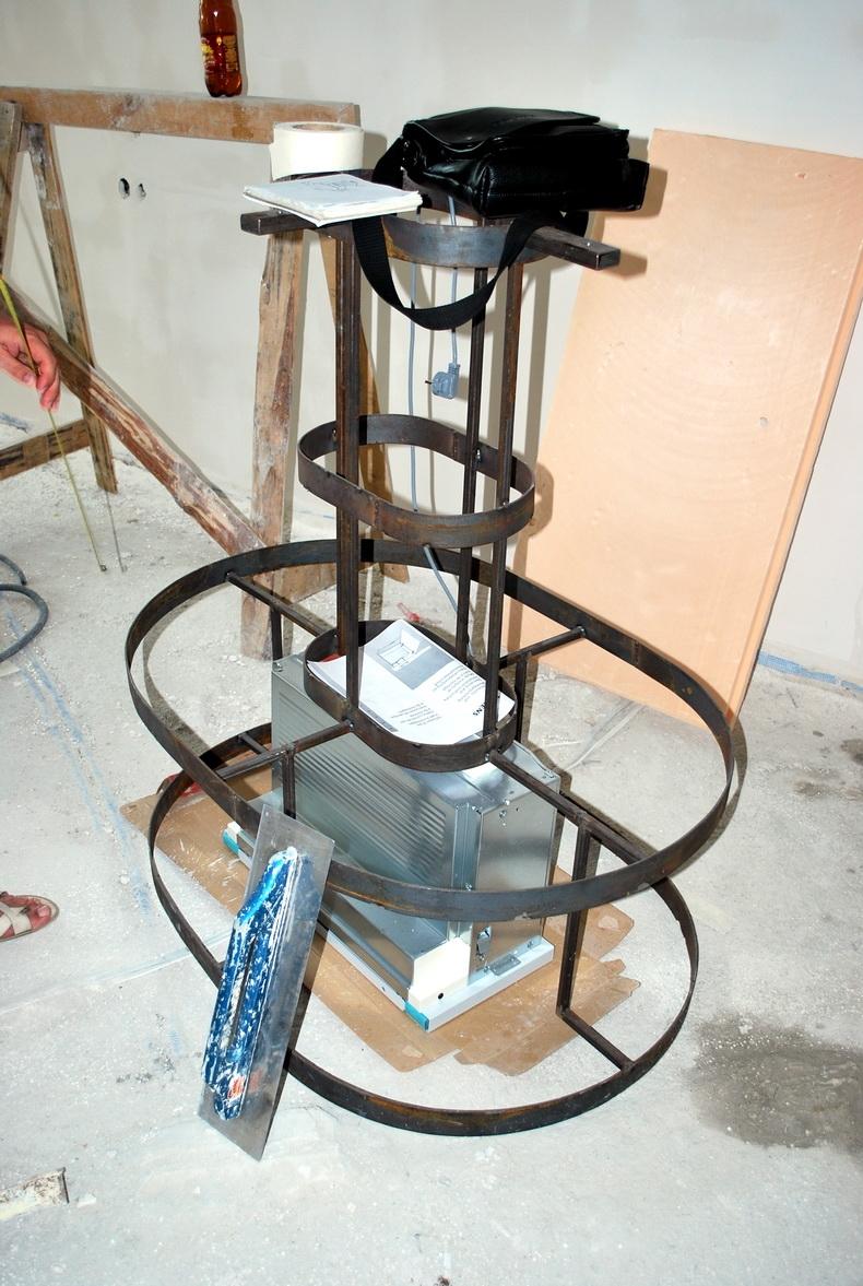 Изготовление конструкции вытяжки над кухонным островом
