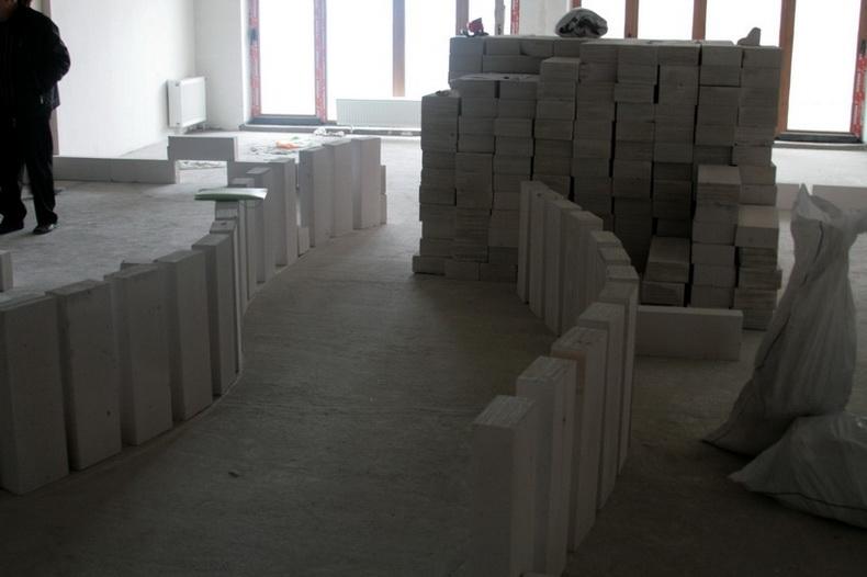 Предварительная разметка стен