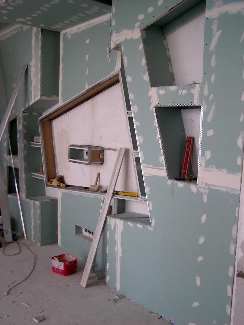 Монтаж конструкции из гипсокартона