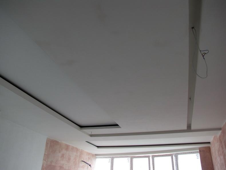 Шпаклевка потолка на кухне