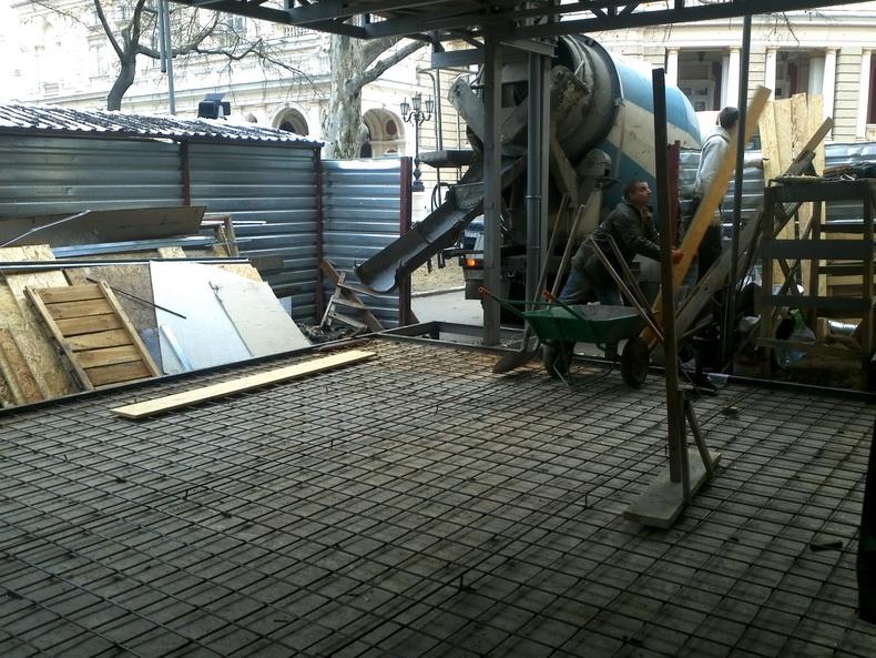 Подготовка к заливке бетоном перекрытия