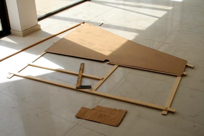 Изготовление шаблона для криволинейного фрагмента стекла