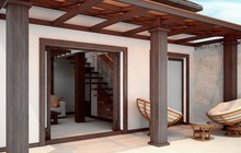 Дизайн интерьера частного дома в экостиле