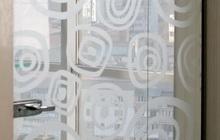 Межкомнатная перегородка из закаленного стекла с нанесением рисунка