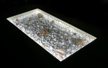Конструкция стеклянного пола с декоративной подсветкой