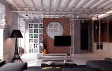 Дизайн - проект интерьера квартиры в стиле лофт