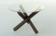 Разработка и изготовление круглого стола из стекла и массива дерева