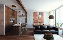 Дизайн квартиры в стиле рустик