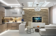 Дизайн интерьера однокомнатной квартиры жилой комплекс Армейский