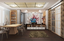 Дизайн интерьера двухуровневой квартиры в японском стиле