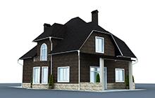 Дизайн дома под расшивку клинкерной плиткой