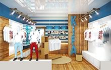 Дизайн интерьера магазина одежды KIFA