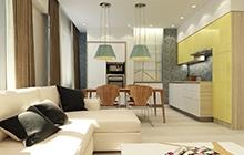 Дизайн квартиры в современном стиле ЖК Мариининский