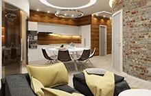 Дизайн квартиры в стиле  лофт Проспект Шевченко 33/б