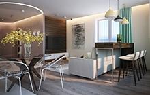 Интерьер квартиры в современном стиле, Академгородок