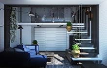 Двухуровневая квартира в современном стиле, Великодолинское, ЖК Мариинский