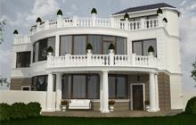 Дизайн экстерьера дома в Лесках