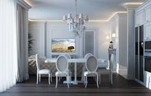 Дизайн интерьера квартиры студии в ЖК «23 Жемчужина»