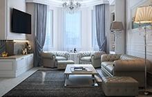 Дизайн интерьера квартиры в ЖК «Двадцать третья Жемчужина»