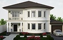 Дизайн фасада дома и прилегающей территории ул.Якорная 21