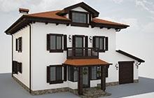 Дизайн фасада дома в средиземноморском стиле