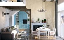 Дизайн интерьера квартиры в средиземноморском стиле ул. Окружная