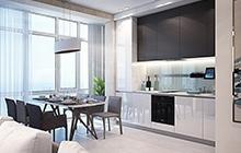 Дизайн интерьера квартиры  ЖК «Восьмая Жемчужина»