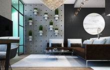 Дизайн интерьера квартиры  ЖК «Двадцать шестая Жемчужина»