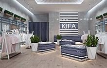 Дизайн интерьера магазина одежды «KIFA»  в торговом центре Citi center