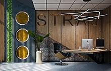 Дизайн интерьера офиса компании STRAJ