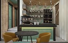 Дизайн интерьера кофейни Green Cup