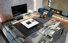 Дизайн интерьера трёхуровневой квартиры, Одесса в ЖК