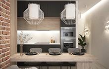 Дизайн интерьера смарт квартиры в городе Одесса  ЖК