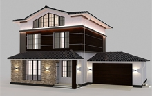 Дизайн фасада дома ул. Глинки Одесса