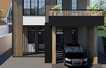 Дизайн фасада дома Червоный Хутор Одесса