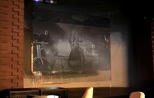 Конструкция подвесной панели(экрана) из закаленного стекла